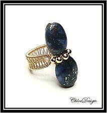 Digital Jewelry Book,diy pdf tutorial Wire Wrapping Lapis Lazuli Adjustable Ring