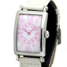 Franck Muller Long Island Japan Limited Quartz SS/Leather Ladies Watch [b0719]