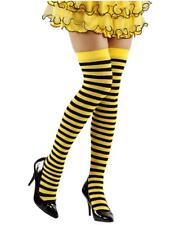 Calze Parigine a Righe Ape Giallonere Per Costume Carnevale PS 10110