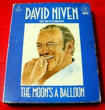 David Niven Reads The Moon's A Balloon 2-Tape Audio Entertainment Autobiography