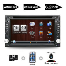 """6.2"""" 2DIN Car CD DVD Player Bluetooth Touch Screen Stereo Radio GPS+Rear Camera"""