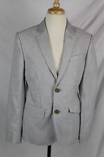 J.Crew Crewcuts Boys $178 Ludlow Suit Jacket Oxford Cloth Melange Gray 8 03626