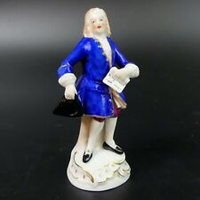ANTIQUE SITZENDORF FINE PORCELAIN FIGURE OF A GENTLEMAN C.1910