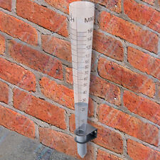 160mm Metric & Imperial Plastic Rain Gauge Measure Watering Soil Rainfall Level
