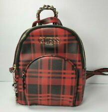 Guess Handbag Purse Wallet Tote Shoulder Backpack COLOR:Red/Black Checkered
