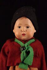 """10"""" Antique German Dutch Hermsdorfer Celluloid Warenfabrik Boy Doll Ladybug Dada"""