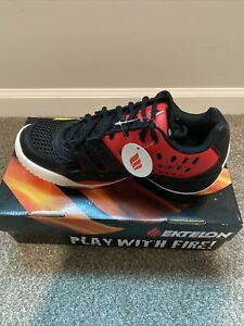 Ektelon T-22 Racquetball Shoes. Size 8.5 Usa. 41.5 Eu, 26.5 Cm. Red/black