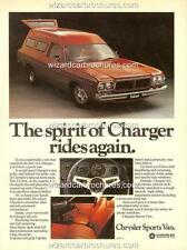 1978 CHRYSLER PANEL VAN SPORTS VAN MOPAR VALIANT A3 POSTER AD SALES BROCHURE