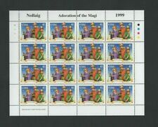 IRELAND Stamps:Sheetlet –1999 Christmas –Adoration of Magi - 16 x 45p MNH SG1281
