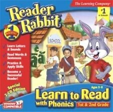 Reader Rabbit Learn to Read with Phonics 1st & 2nd  New 2CD Learning Adventure