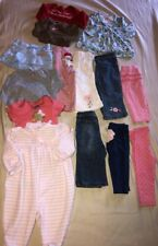 14 Pc Baby Girl Clothing Lot 6 - 12 Months One Pieces Pants Jeans Tops So Cute!