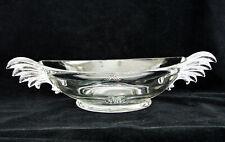 "Fostoria Vintage Baroque Oval Bowl 10 3/4""  Large Wing Handles"
