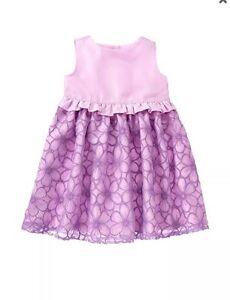 NWT Gymboree EGG HUNT Purple Organza Dress Easter Toddler Girls 12 18 24 2T