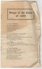 BARNARD COLLEGE Songs Class of 1909 NEW YORK CITY Columbia University NYC School