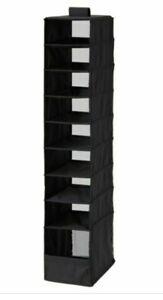 IKEA SKUBB Organizer with 9 Compartments Storage Black 8 3/4 x 13 1/2 X 47 1/4
