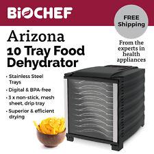 BioChef Arizona 10 Tray Food Dehydrator with Digital Timer - Black