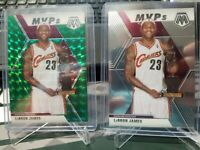 2019-20 Panini Prizm Mosaic LEBRON JAMES Green Prizm & BASE MVP's #298 SP (LOT)
