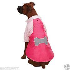 New Casual Canine Nylon Snow Dog Parka Jacket Coat Fleece Raspberry Medium M