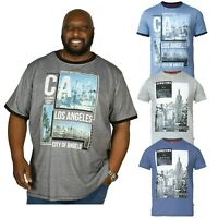 D555 Mens Big and Tall T shirt Short Sleeve Crew Neck Summer Plus Size Tee Tops