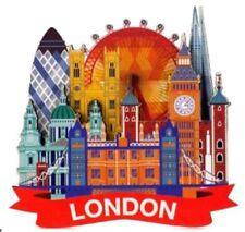 Modern London Skyline Collage Fridge Magnet Montage Souvenir Gift Wood Big Ben