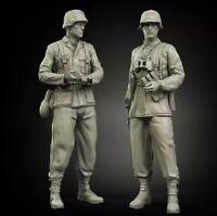 1/35 Resin Figure Model Kit German Soldiers Waffen-SS WWII Unassambled Unpainted