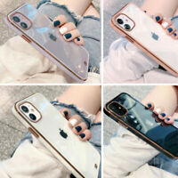 For iPhone 11 12 Pro Max Mini XS X XR 7 8 Shockproof Clear Phone Back Case Cover