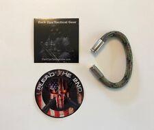 Bullet Casing Paracord Bracelet...2nd Amendment..NRA....Nickel 9m...Multi Camo