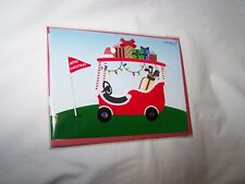 Papyrus Christmas Greeting Card/Envelope; Golf Cart with Gifts