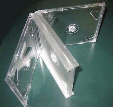 2 New High Quality Rare Multi-4 Quad CD Jewel Case w/Clear Tray, Assembled, GF4