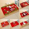 Christmas Door Mat Santa Claus Floor Carpet Outdoor Indoor Rugs Xmas Home Decor