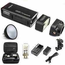 Godox AD200 2.4G Flash 1/8000 w/ AD-S2 Standard Reflector for. Canon Nikon Sony