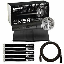 Shure SM58 On/Off Switch Dynamic Cardioid Vocal Microphone w Cable & Ties Pack