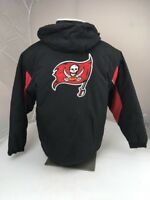 Vtg 90s TAMPA BAY BUCCANEERS BIG LOGO JACKET Puffer NFL MENS M Hooded Spotlight
