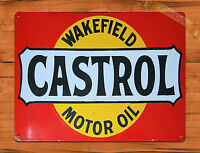 """""""Castrol Red"""" Oil Wakefield Garage Rustic Wall Decor TIN SIGN"""