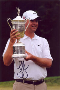 Lucas Glover, US Open Champion 2009, signed 12x8 inch photo. COA. Proof.