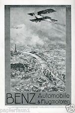 Benz Automobile & Flugmotoren XL Reklame 1916 Paris Ruep puplicité Mercedes ad