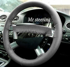 FITS FORD TRANSIT MK7 06-10 REAL DARK GREY ITALIAN LEATHER STEERING WHEEL COVER