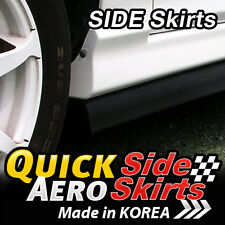 7 Feet x2 Side Skirts Spoiler Chin Lip Splitter Valence Trim Kit for All Vehicle