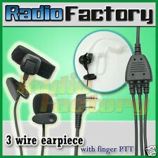 3 wire earpiece with finger PTT  Baofeng New UV-5R Wouxun KG-UV6D Puxing PX-777