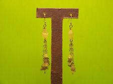 genuine moonstone and tanzanite sterling silver earrings
