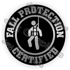 Fall Protection Certified Hard Hat Sticker / Decal / Helmet Label Safety Laborer