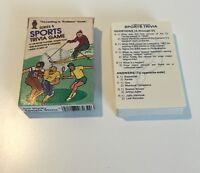 POCKET SPORTS TRIVIA GAME SERIES 5 CARD GAME PROFESSOR HOYLE SPORTS 1984