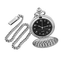 NEW Cathy's Concepts Black Face Silver-Plated Pocket Watch