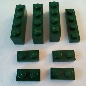 Dark Green 1 Stud Lego Bricks
