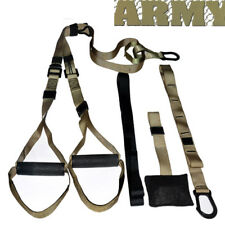 Workout Trainer UPGRADED Home Gym Suspension Resistance Strength Training Straps