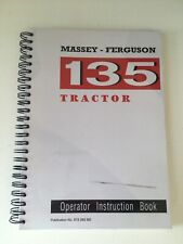 Massey Ferguson Tractor 135 Operators Manual - MF135.