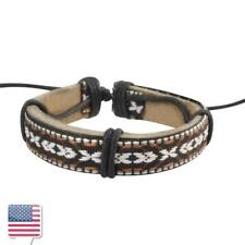 Vintage Handmade Genuine Leather Bracelet for Men Punk Surfer Braided Bracelet