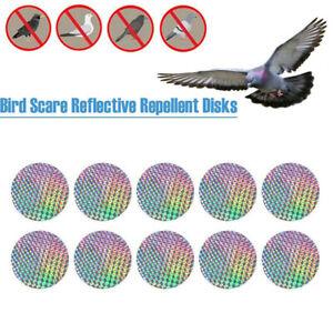 Bird Scare Sticker Pest Control Bird Repellent Discs Deterrent Reflector