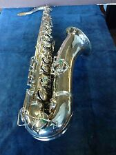 C.G. CONN TENOR SAXOPHONE, WITH FRESH SILVER-PLATING!