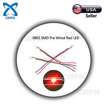 20Pcs 0805 2012 SMD Micro LED Chip Pre Wired SMT Red Light Lamp Diodes Bead Buld